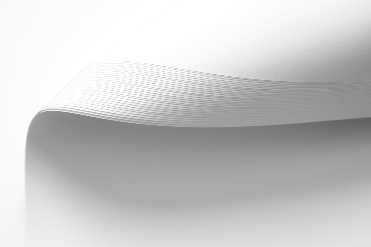 White Sheet Of Paper With Curved Corner